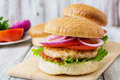 Sandwich With Chicken Burger Royalty Free Stock Images - 57897239