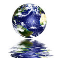Planet Earth Reflected On Top Of Water Stock Image - 5796811