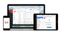 Google Gmail App On Apple IPhone IPad And Macbook Pro Displays Stock Images - 57904974