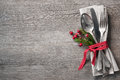 Christmas Table Place Setting Royalty Free Stock Images - 57905429