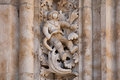 Astronaut Carved In Stone In The Salamanca Cathedral Facade Royalty Free Stock Photography - 57915007