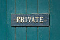 Private Sign Stock Images - 57926604