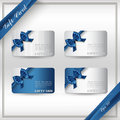 Collection Of Gift Cards With Ribbons. Stock Photo - 57934850