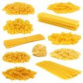 Assortment Of Dry Pasta Isolated On White Stock Images - 57967524
