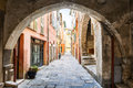 Old Street In Villefranche-sur-Mer Stock Image - 57968261