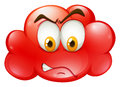 Angry Face On Red Cloud Royalty Free Stock Photography - 57975717