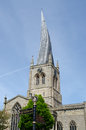 Crooked Spire With Road Signs Royalty Free Stock Image - 57980086