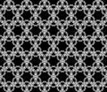 Black And White Seamless Pattern Stars Royalty Free Stock Photo - 57984595