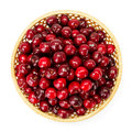 Top View Of Sweet Cherry Berries (Prunus Avium) In Wicker Plate Stock Images - 57998104