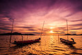 Boat In The Sunset Royalty Free Stock Photo - 58001885