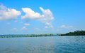 Guntersville Lake, Bridge Over Tennessee River Royalty Free Stock Photo - 58003345