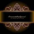 Vintage Gold Lacy Background Royalty Free Stock Photos - 58037878