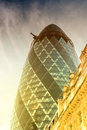 LONDON - JUNE 13: View Of Gherkin Building (30 St Mary Axe) At S Stock Image - 58044491