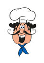 Cartoon Moustached Italian Chef In Cook Cap Royalty Free Stock Images - 58070999