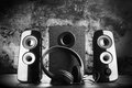 Modern Black Sound Speakers Stock Photography - 58076862