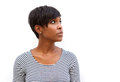 Attractive Young African American Woman Looking Away Stock Photography - 58077732