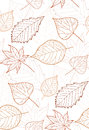 Seamless Autumn Pattern With Colored Leaves Contours Royalty Free Stock Image - 58079416