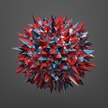 Rendering Of Sphere With Chaotic Structure Royalty Free Stock Photos - 58081788