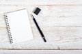 Note Paper And Pen Stock Photo - 58084090