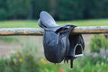 A Leather Saddles Horse In A Stable Stock Images - 58087644