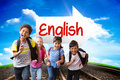 English Against Railway Leading To Blue Sky Stock Images - 58090824