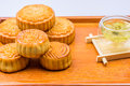 China Traditional Moon Cake And Tea Royalty Free Stock Images - 58091839