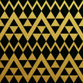 Gold Seamless Pattern Of Triangles On Black Background Royalty Free Stock Image - 58098136