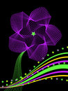 Star Flower Abstract In Purple Stock Photography - 5810592