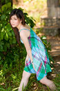 Innocent Beautiful Asian Girl Outdoors Royalty Free Stock Photo - 5813925