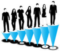 People, Graph And Cogwheels Stock Photo - 5819950