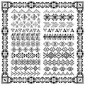 Set Of Borders In Ethnic Tribal Style. 30 Pattern Brushes Inside Royalty Free Stock Photo - 58100755