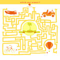 Rebus Vector. Funny Labyrinth With Bike Car Plane Balloon. Stock Photos - 58110903