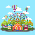 Carousel In Flat Design Stock Images - 58112534