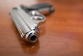 Pistol On A Table Royalty Free Stock Photography - 58116437