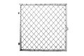 Wire Fence On White Background Royalty Free Stock Image - 58116916