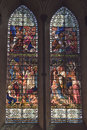 Salisbury Cathedral Stained Glass Windows Royalty Free Stock Photo - 58124405