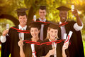 Composite Image Of Group Of People Graduating From College Stock Image - 58156251