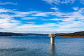 Cardinia Reservoir Lake And Water Tower, Australia Royalty Free Stock Photo - 58166415