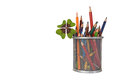 Back To School: Colored Pencils In The Jar Stock Photos - 58177273