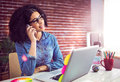 Casual Businesswoman Calling A Client Stock Photo - 58177440