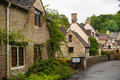 Castle Combe, Unique Old English Village. Old House And Park Stock Image - 58184781