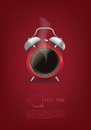 Coffee Cup Time Clock Concept Design Background Royalty Free Stock Image - 58200816
