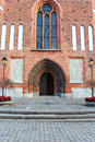 The Door To The Old Church In Vasteras City In Sweden Stock Photography - 58212152