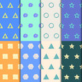 Hand-drawing Doodle Seamless Patterns Set. Royalty Free Stock Image - 58212566