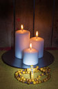 Rosary And Candles Stock Photos - 58215793