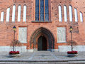 The Door To The Old Church In Vasteras City In Sweden Royalty Free Stock Image - 58227126