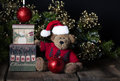 Merry Christmas Teddy Bear Royalty Free Stock Image - 58236786