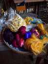 Silk Threads At Khmer Village 2 Royalty Free Stock Photography - 58244257