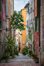 Colorful Old Street In Villefranche-sur-Mer Stock Photo - 58257080