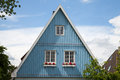 Germany, Schleswig-Holstein, House, Blue Facade, Gable Stock Photography - 58257952